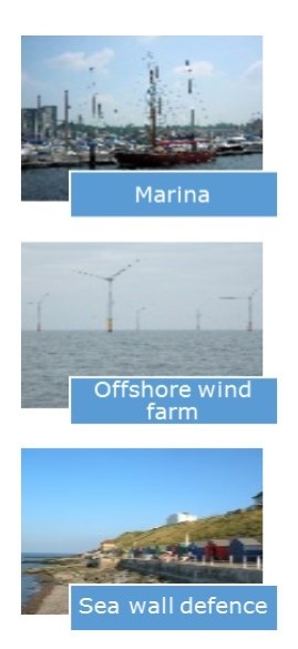 Marina - Offshore Wind Farm - Sea Wall Defence